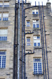 Pipes. At the back of a building in Edinburgh royalty free stock photo
