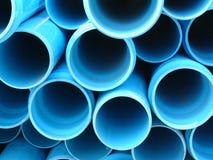 Pipes bleues image libre de droits