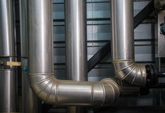 The pipes in the boiler room Royalty Free Stock Photography