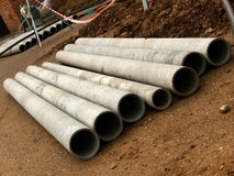 Pipes  cement Stock Photos