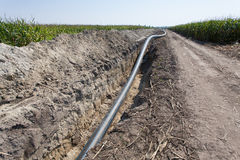 Pipes and channels of irrigation systems Stock Photography