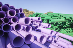 Pipes Colors Closeup Royalty Free Stock Photos