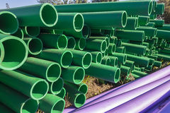 Pipes Colors Closeup Royalty Free Stock Images
