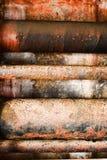 Pipes concrètes rouillées colorées Images stock