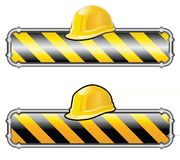 Pipes construction. Vector sign for web site under construction Stock Image