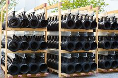 Pipes at construction site Royalty Free Stock Photos