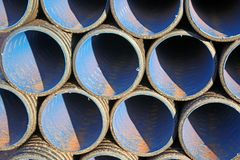 Water pipes. Pipes on a construction site Royalty Free Stock Photography