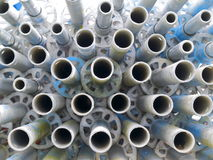 Pipes d'échafaudage Image stock