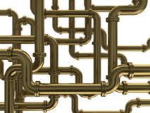 Pipes. 3d illustration of pipes background Royalty Free Stock Photography