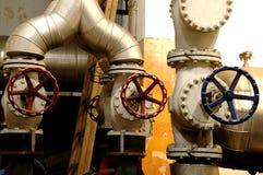 Pipes d'industrie et systèmes d'industrie Photographie stock