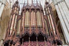 Pipes d'organe d'église image libre de droits