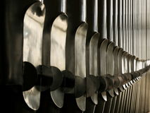 Pipes d'organe image stock