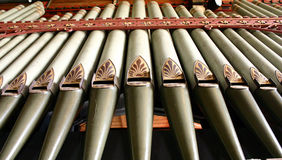 Pipes d'organe Photographie stock