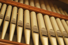 Pipes d'organe d'église Images stock