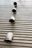 Pipes dans un étage en métal Photos libres de droits