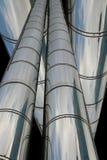 Pipes de chrome Image libre de droits