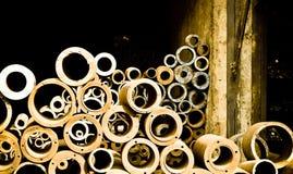 Pipes de chute de fer Photo libre de droits