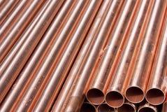 Pipes de cuivre photo libre de droits