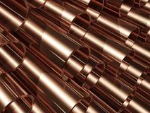 Pipes de cuivre Photo stock