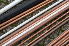 Pipes de cuivre Image libre de droits