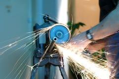 pipes de découpage de photo pour l'usine hydraulique Photographie stock libre de droits