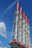 Pipes de fumage d'usine Images stock