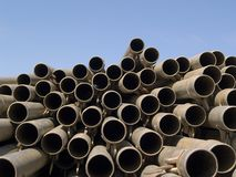 Pipes de Gattling Photos stock