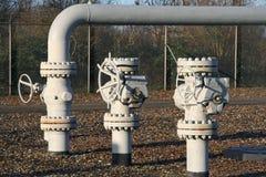 Pipes de gaz Photos libres de droits