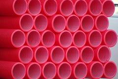Pipes de PVC Image libre de droits