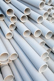 Pipes de PVC Photos libres de droits