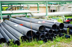 Pipes de PVC pour la canalisation photo stock