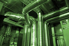 Pipes de ventilation d'un état d'air Images stock