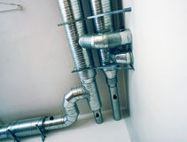 Pipes de ventilation d'un état d'air Photo stock