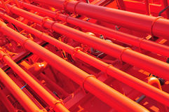 Pipes on the deck of the tanker Royalty Free Stock Image