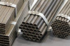 Pipes en acier Photographie stock libre de droits