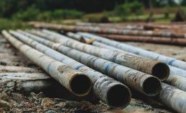Pipes en acier Images stock