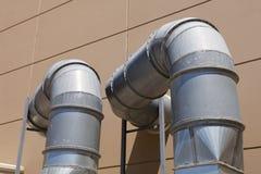 Pipes en métal Image libre de droits