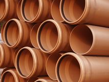 Pipes en plastique Photos libres de droits