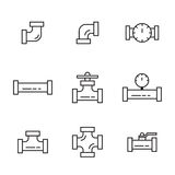 Pipes and fittings Royalty Free Stock Photography