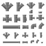 Pipes flat icons Royalty Free Stock Photo
