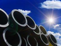 Pipes For Water In A Stack Royalty Free Stock Image