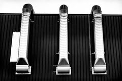 Pipes in the harbour of Amsterdam royalty free stock images
