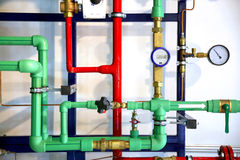 Pipes and heating system demo Stock Photos