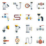 Pipes Icons Set Royalty Free Stock Image