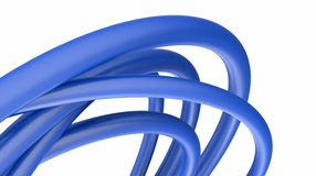 Pipes. Intersecting each other 3d abstract background Stock Photos