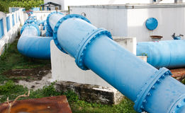 Pipes of an irrigation water Royalty Free Stock Images