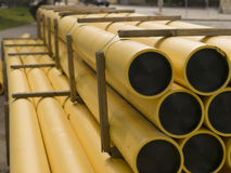 Pipes jaunes Photo libre de droits