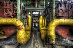 Pipes jaunes Images stock