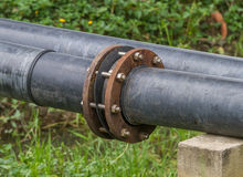 Pipes Joint for watering in golf courses. Royalty Free Stock Photography
