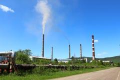Pipes Krasnoyarsk GRES-2 Stock Images